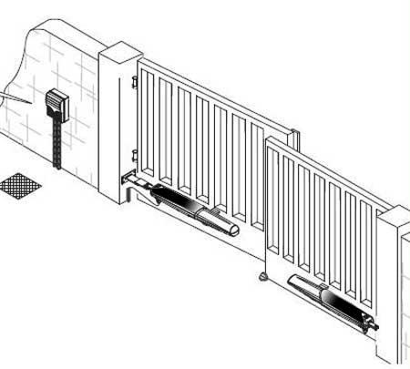 Настройка автоматики распашных ворот